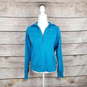 Nike 1/4 zip sweatshirt blue womens XL